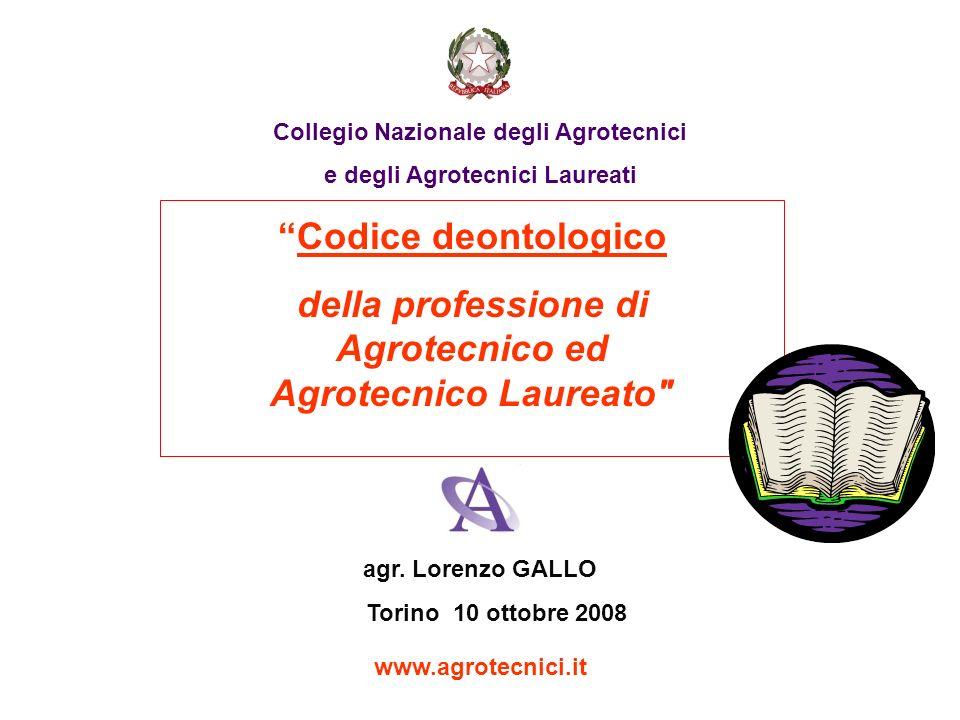 della professione di Agrotecnico ed Agrotecnico Laureato