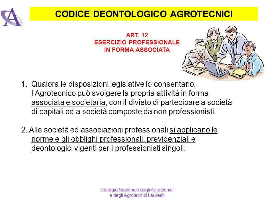 CODICE DEONTOLOGICO AGROTECNICI ESERCIZIO PROFESSIONALE