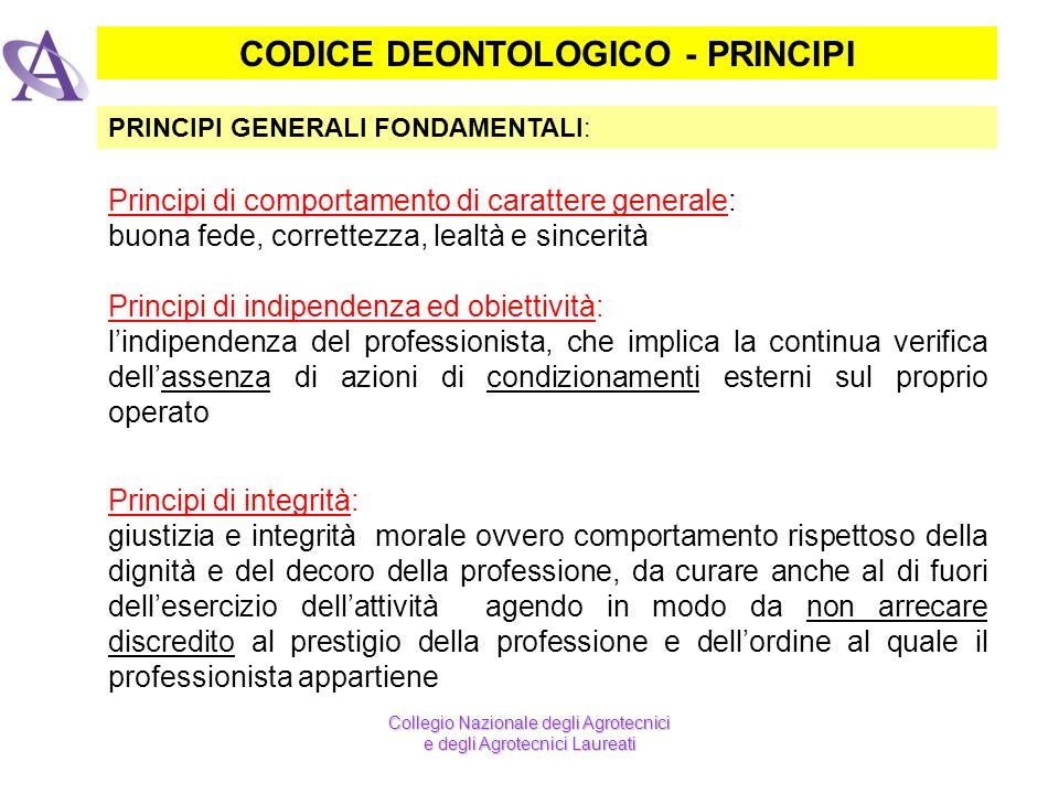 CODICE DEONTOLOGICO - PRINCIPI