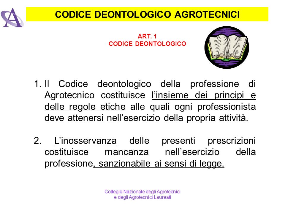 CODICE DEONTOLOGICO AGROTECNICI