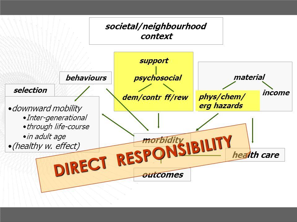 societal/neighbourhood DIRECT RESPONSIBILITY
