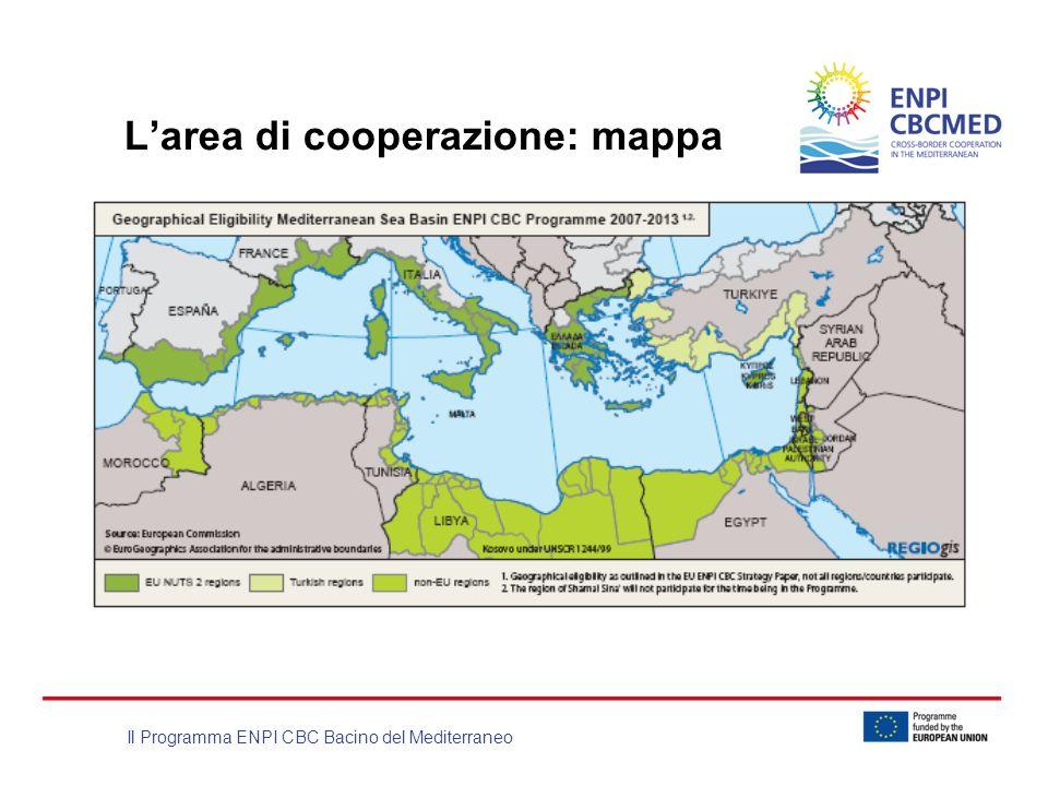 L'area di cooperazione: mappa