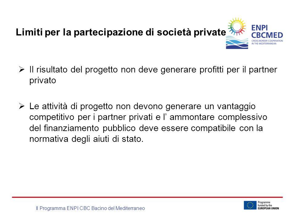 Limiti per la partecipazione di società private
