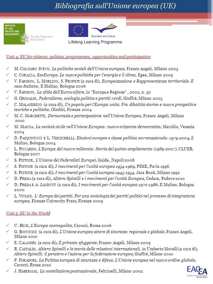 Bibliografia sull'Unione europea (UE)