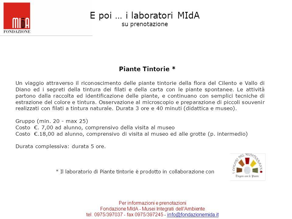 E poi … i laboratori MIdA