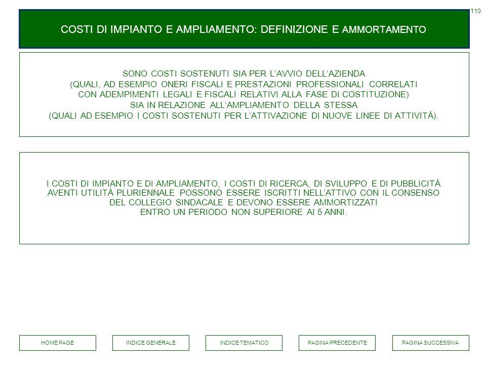 COSTI DI IMPIANTO E AMPLIAMENTO: DEFINIZIONE E AMMORTAMENTO
