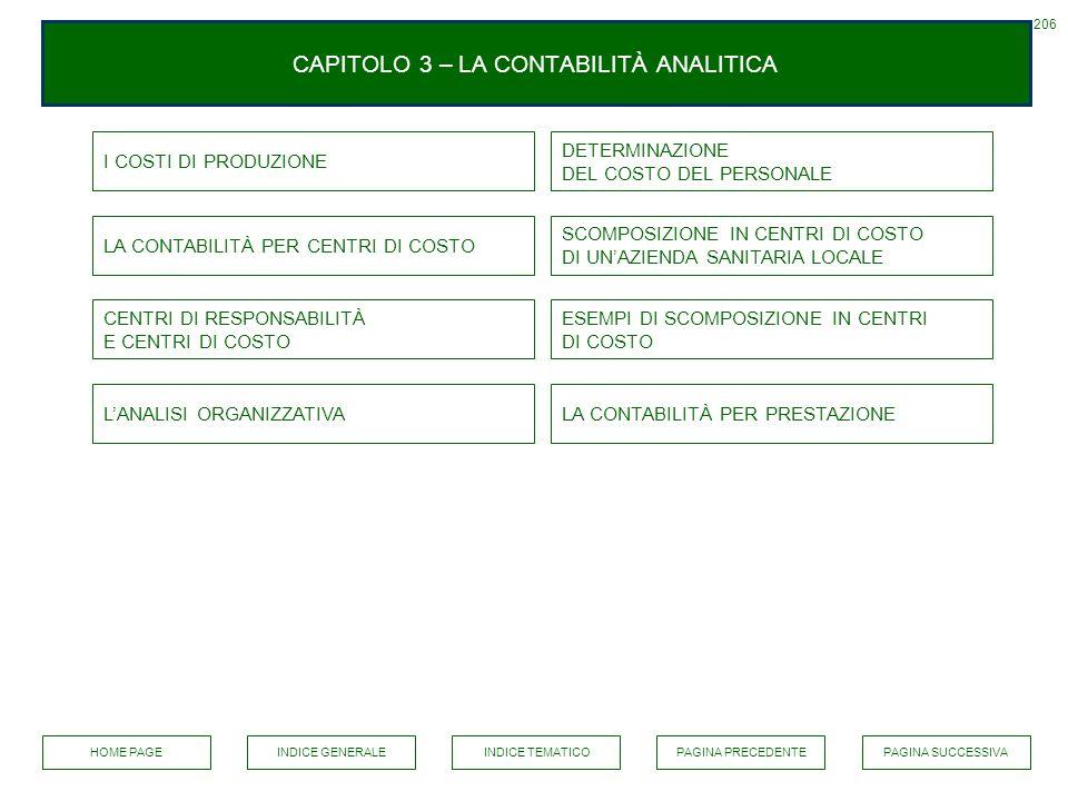 CAPITOLO 3 – LA CONTABILITÀ ANALITICA