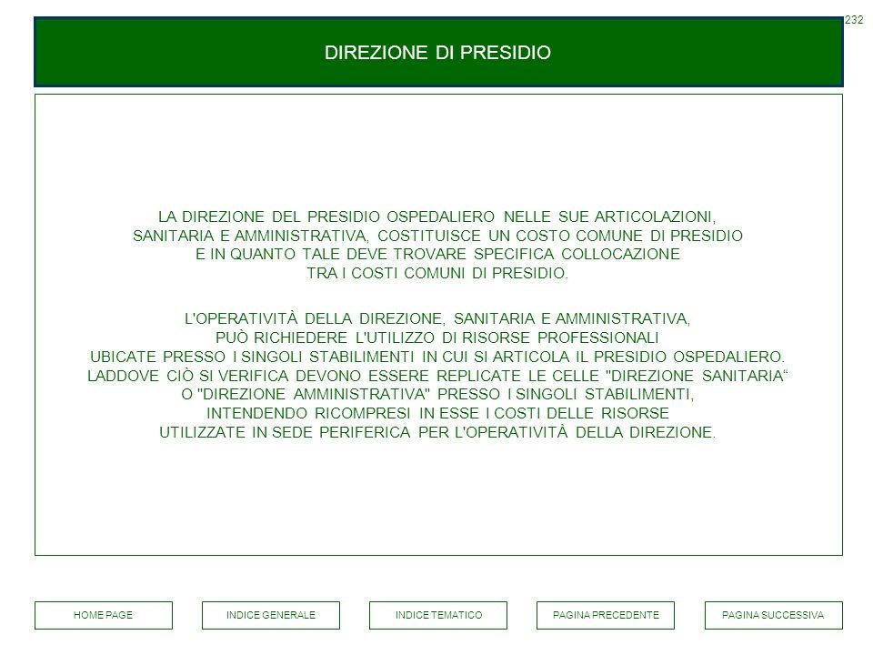 232 DIREZIONE DI PRESIDIO.