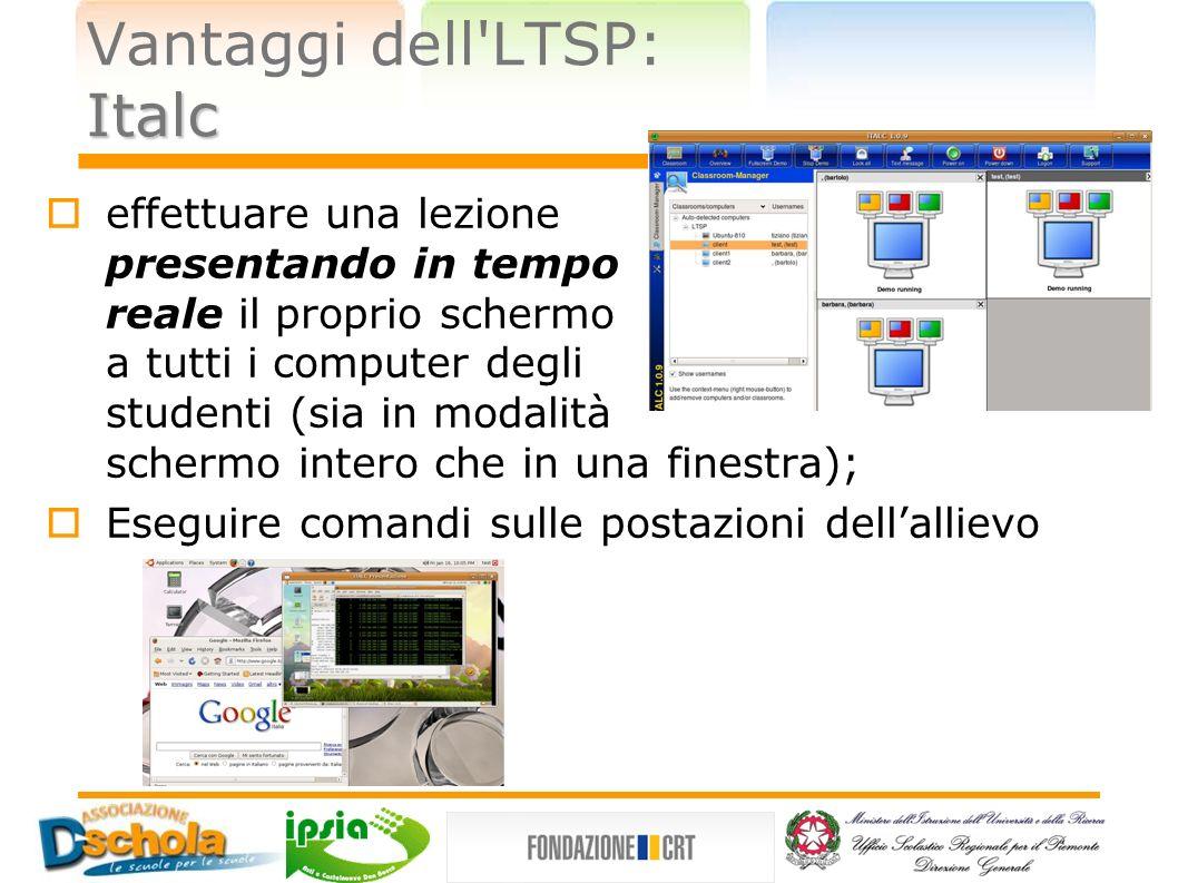 Vantaggi dell LTSP: Italc