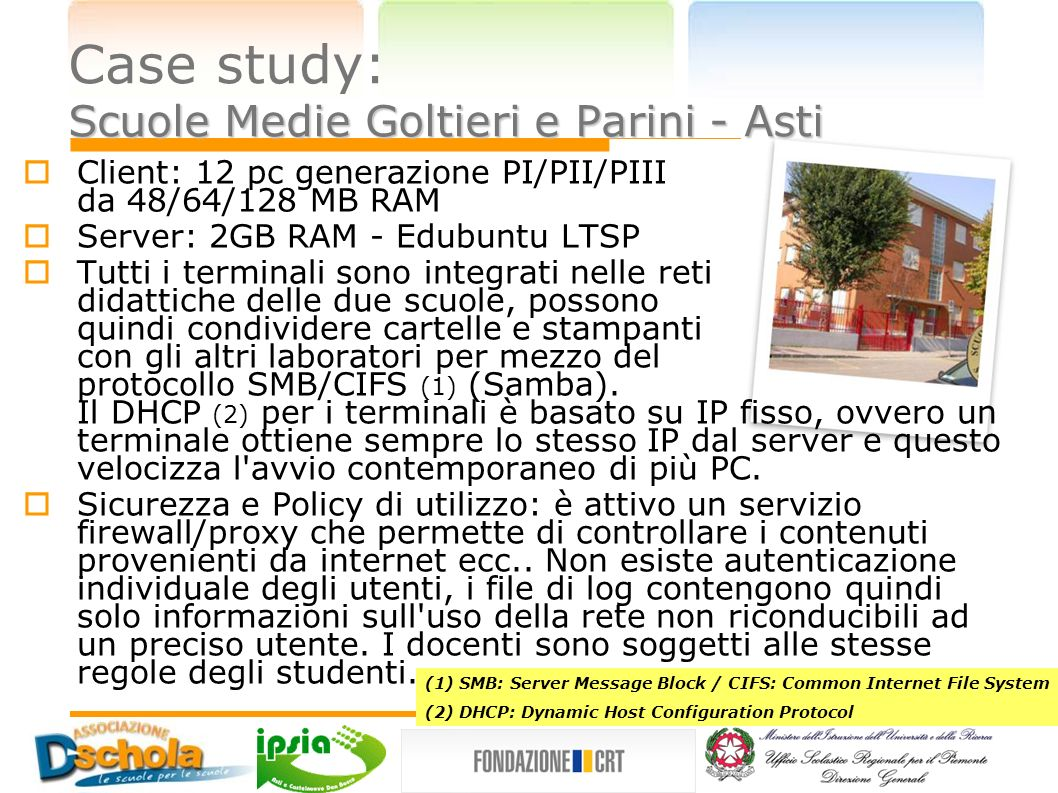Case study: Scuole Medie Goltieri e Parini - Asti