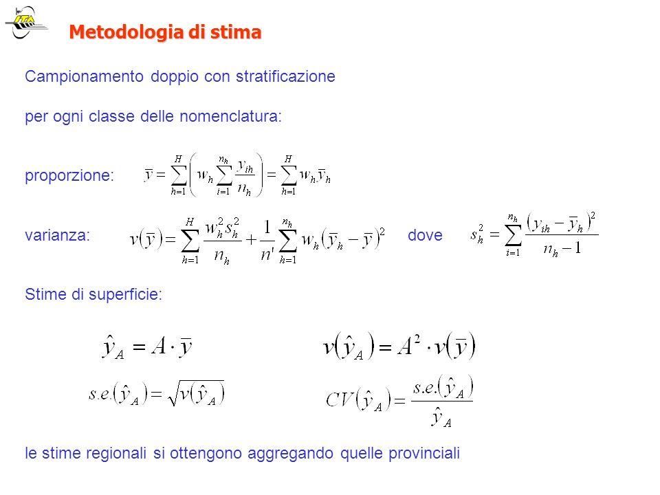 Metodologia di stima Campionamento doppio con stratificazione