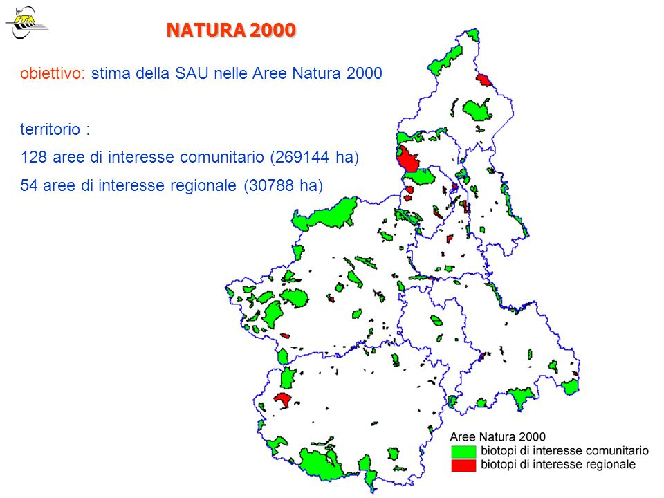 NATURA 2000 obiettivo: stima della SAU nelle Aree Natura 2000