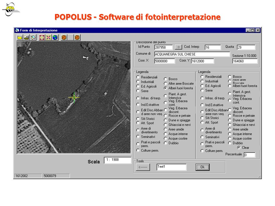 POPOLUS - Software di fotointerpretazione