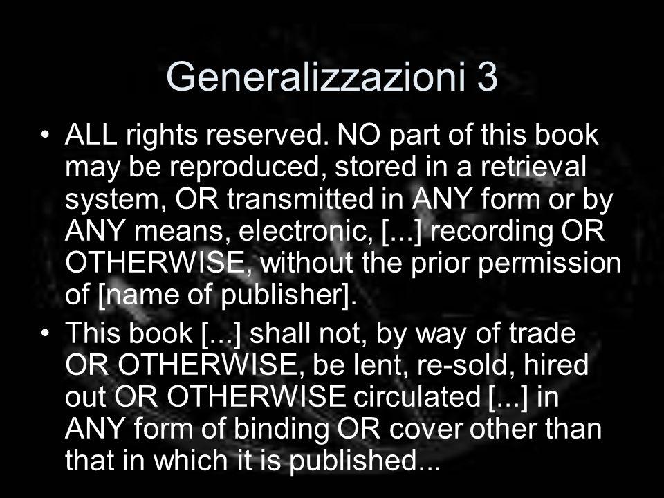 Generalizzazioni 3