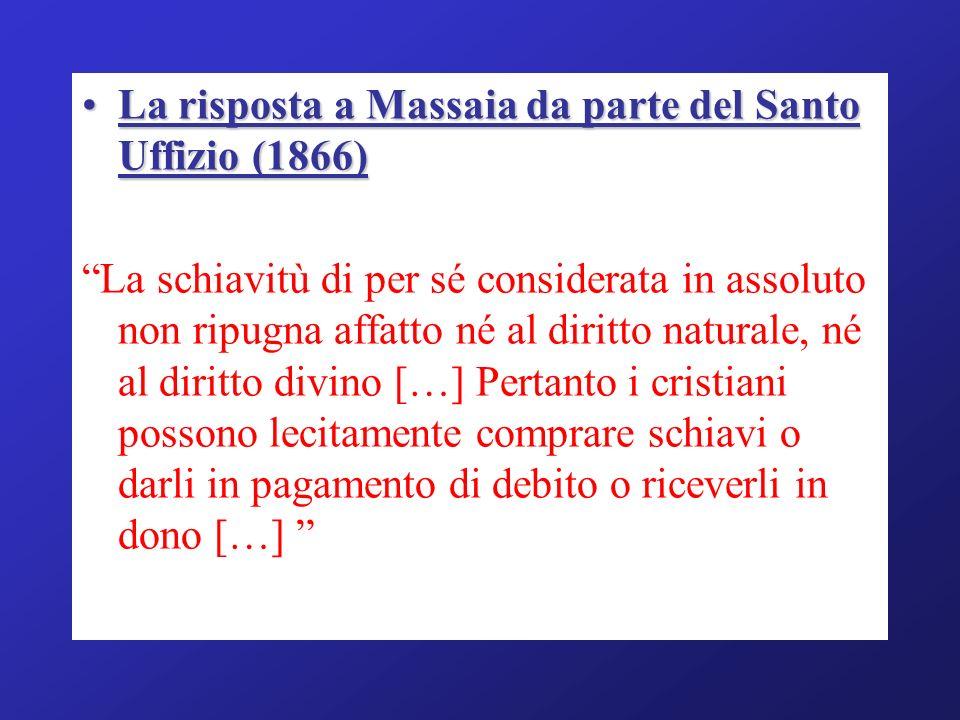 La risposta a Massaia da parte del Santo Uffizio (1866)