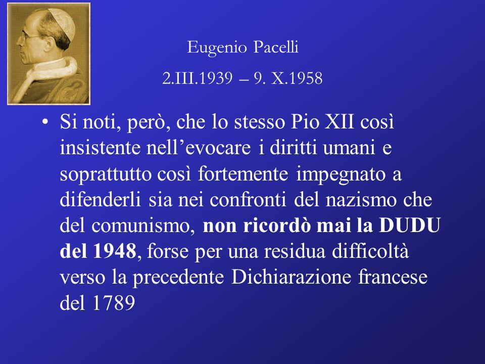 Eugenio Pacelli 2.III.1939 – 9. X.1958