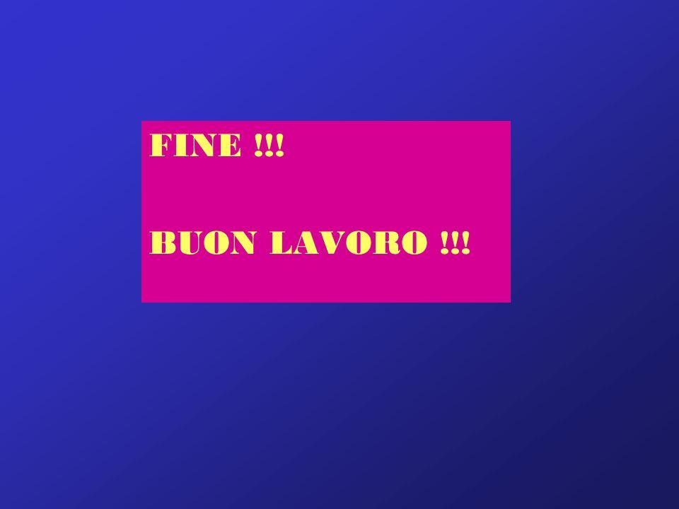 FINE !!! BUON LAVORO !!!