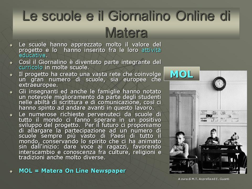 Le scuole e il Giornalino Online di Matera