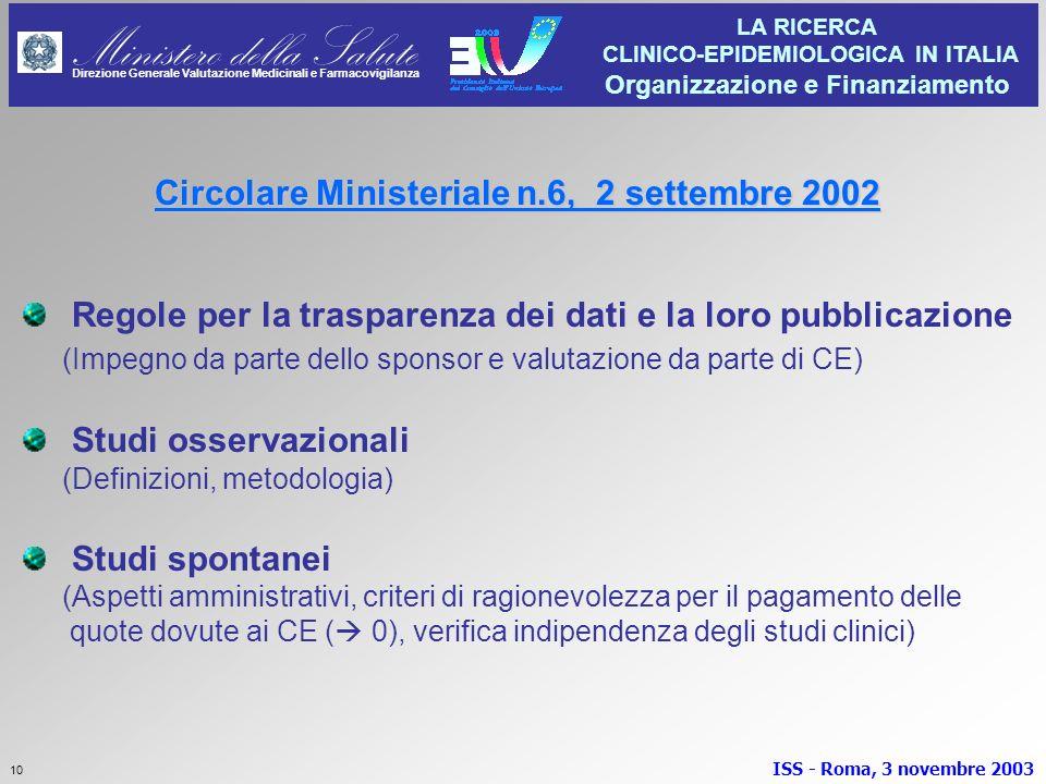 Circolare Ministeriale n.6, 2 settembre 2002