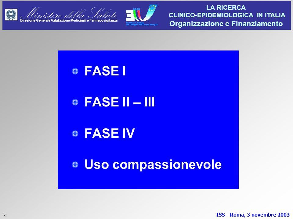FASE I FASE II – III FASE IV Uso compassionevole