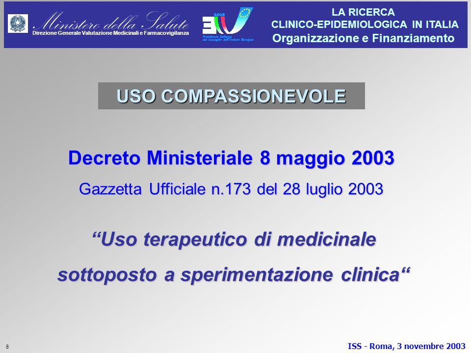 Decreto Ministeriale 8 maggio 2003