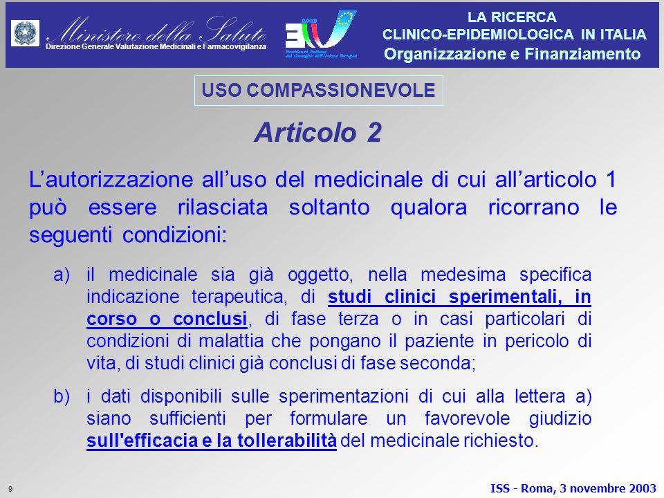 USO COMPASSIONEVOLE Articolo 2.