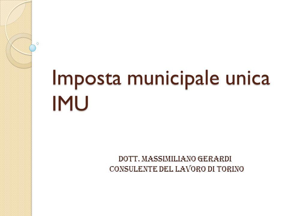 Imposta municipale unica IMU
