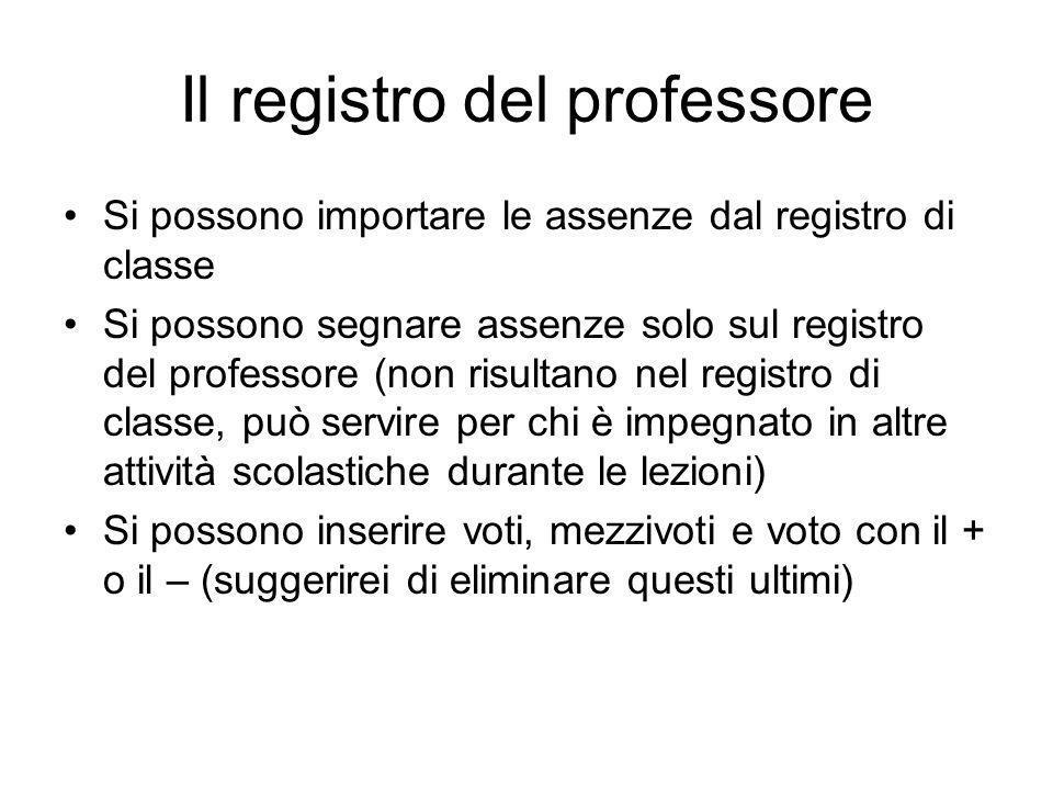 Il registro del professore