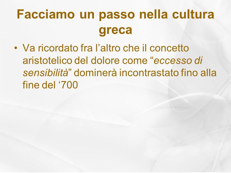 Facciamo un passo nella cultura greca