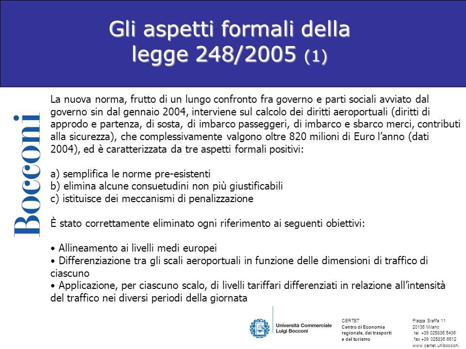 Gli aspetti formali della legge 248/2005 (1)