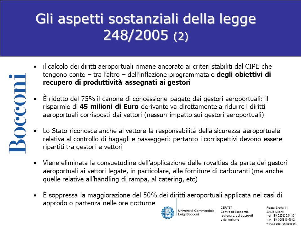 Gli aspetti sostanziali della legge 248/2005 (2)