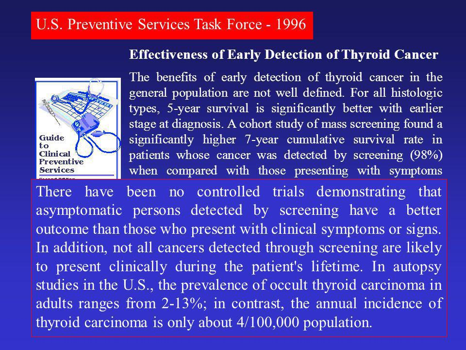 U.S. Preventive Services Task Force - 1996