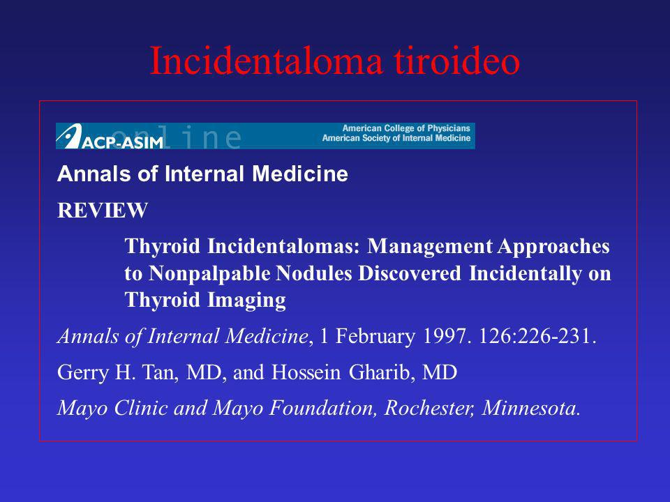Incidentaloma tiroideo