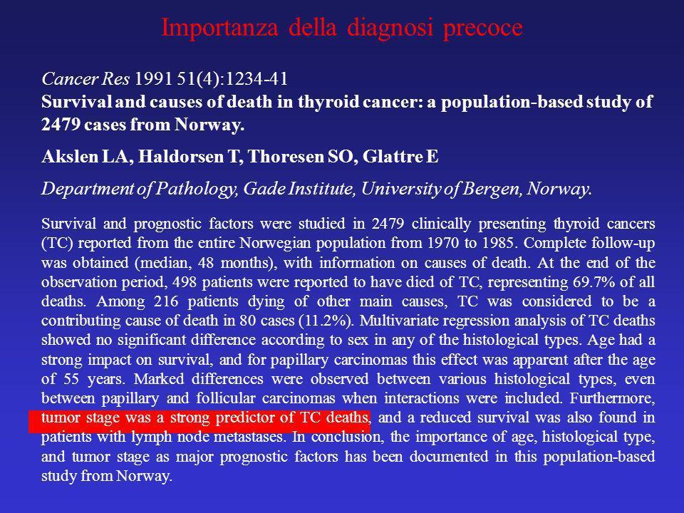 Importanza della diagnosi precoce