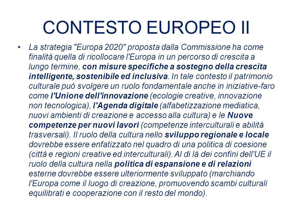 CONTESTO EUROPEO II