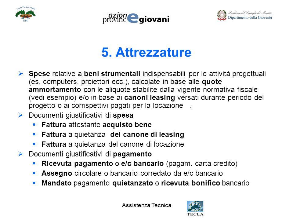 5. Attrezzature
