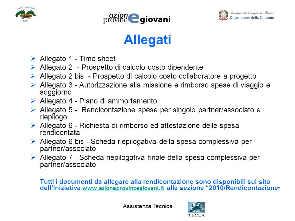 Allegati Allegato 1 - Time sheet