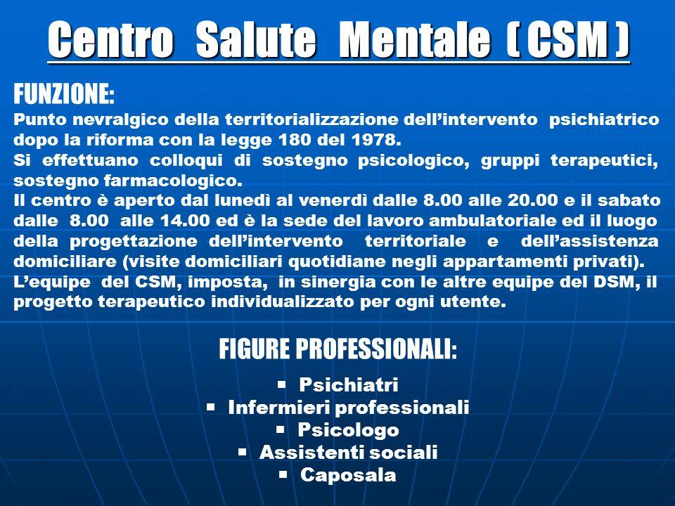 Centro Salute Mentale ( CSM )