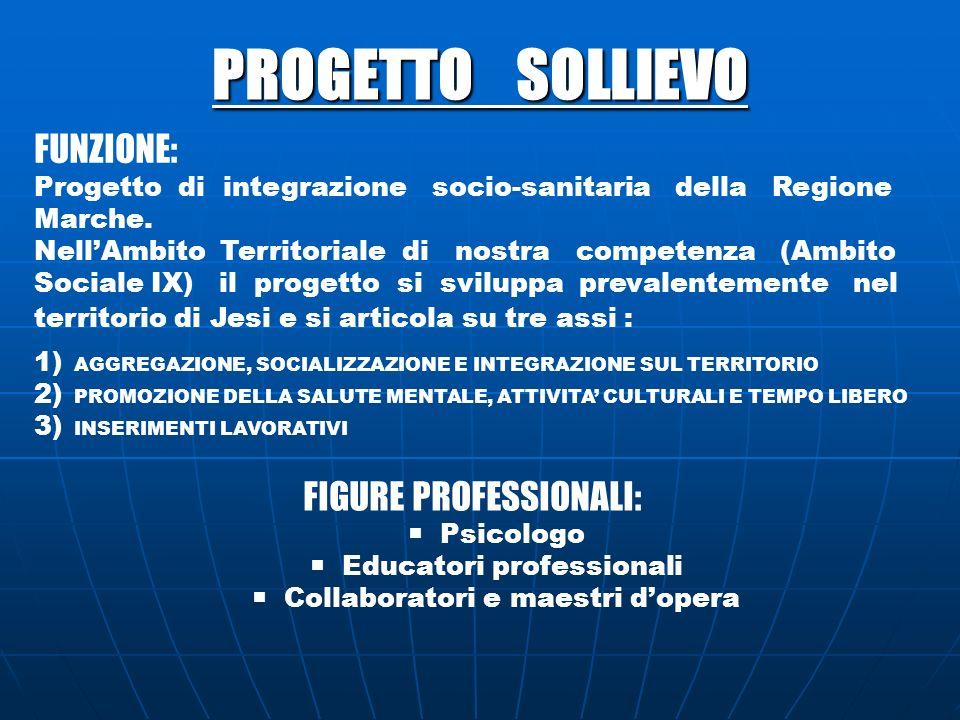 PROGETTO SOLLIEVO FUNZIONE: FIGURE PROFESSIONALI: