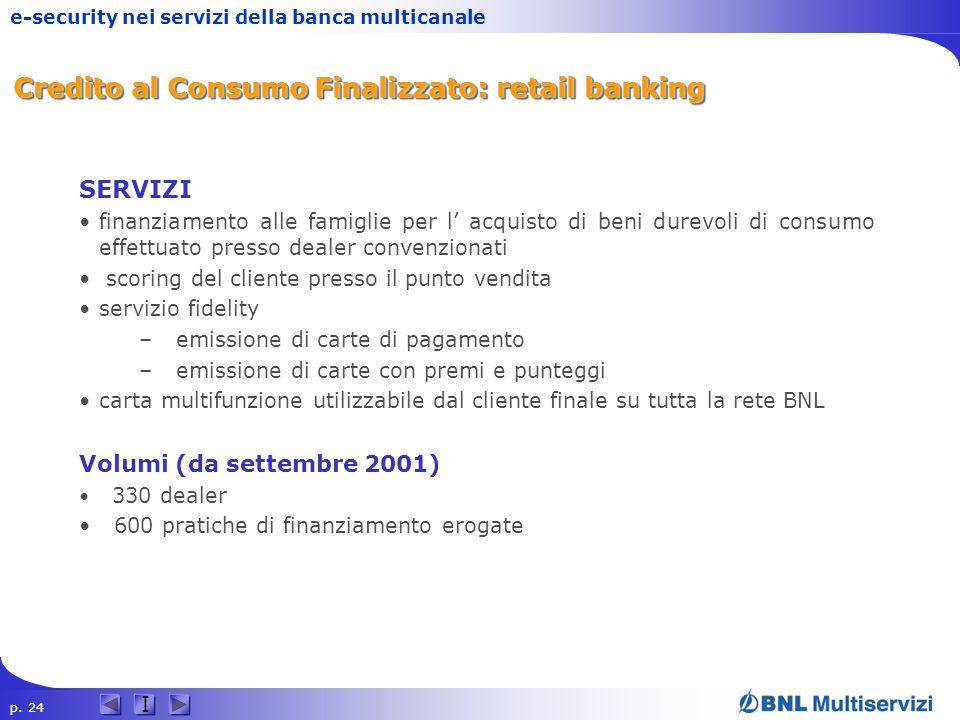 Credito al Consumo Finalizzato: retail banking
