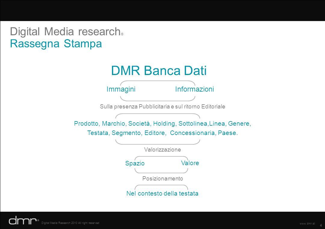 DMR Banca Dati Digital Media research® Rassegna Stampa Immagini