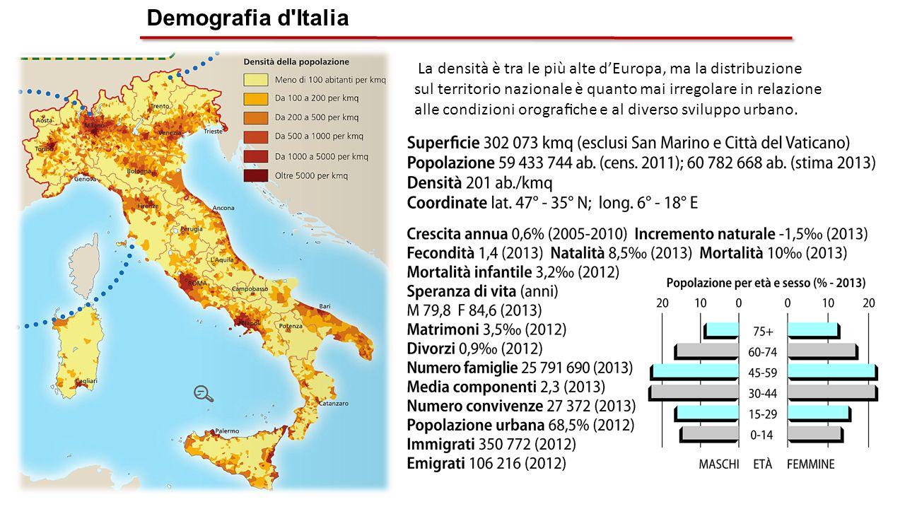 Demografia d 39 italia con di abitanti al 1 gennaio 2011 for Numero senatori e deputati in italia
