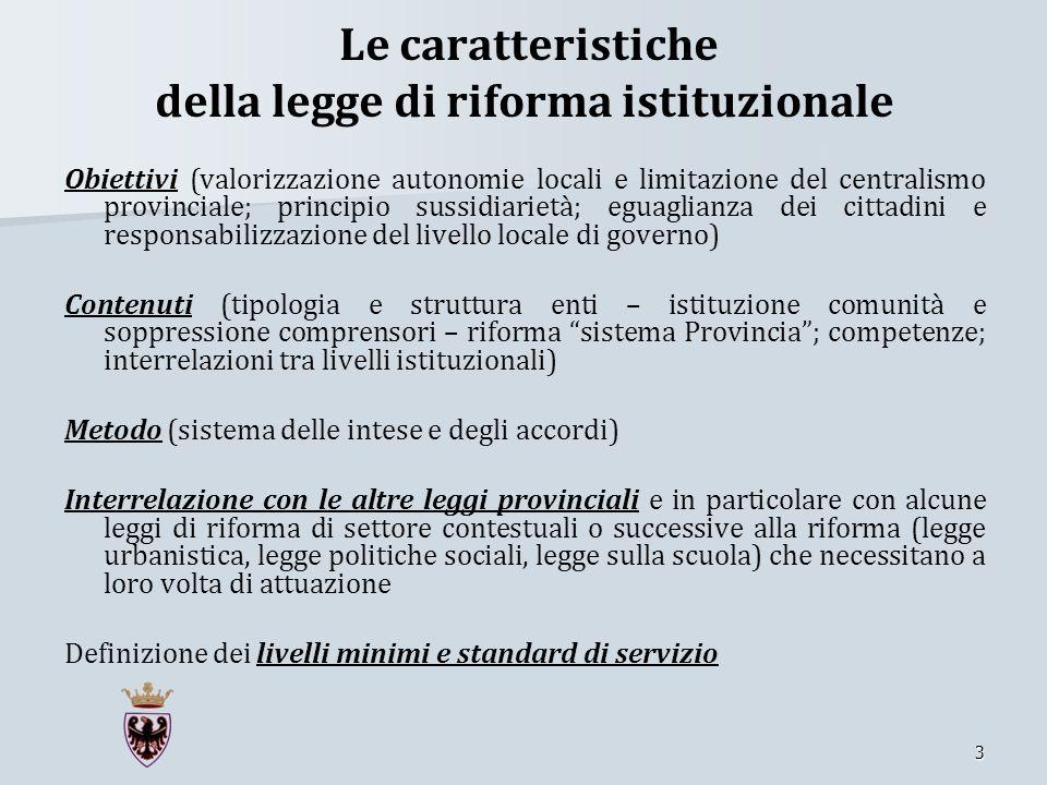 Le caratteristiche della legge di riforma istituzionale