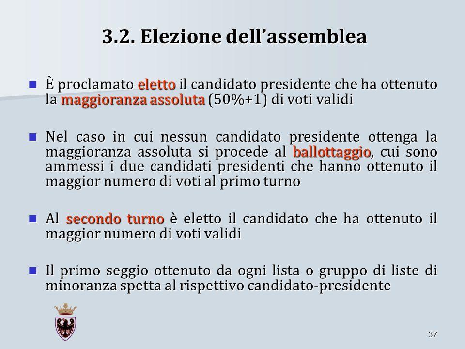 3.2. Elezione dell'assemblea