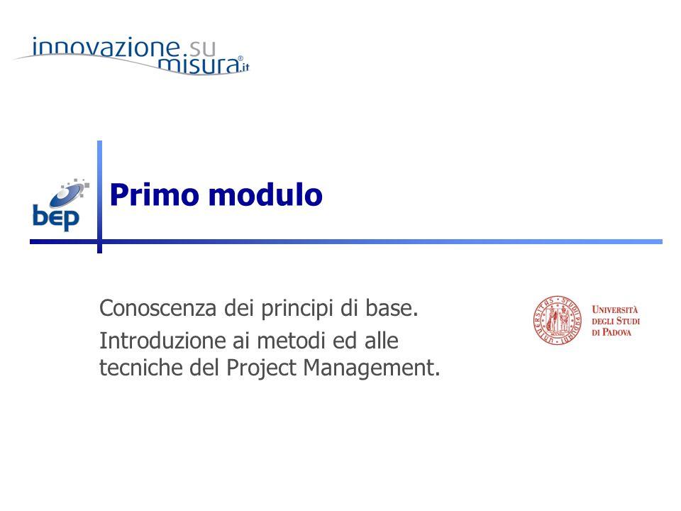 Primo modulo Conoscenza dei principi di base.