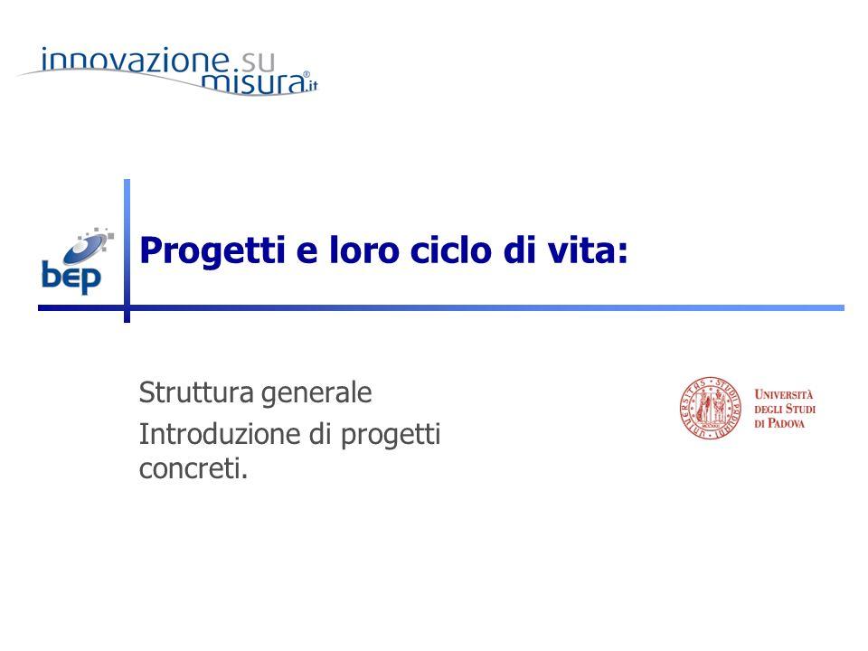 Progetti e loro ciclo di vita:
