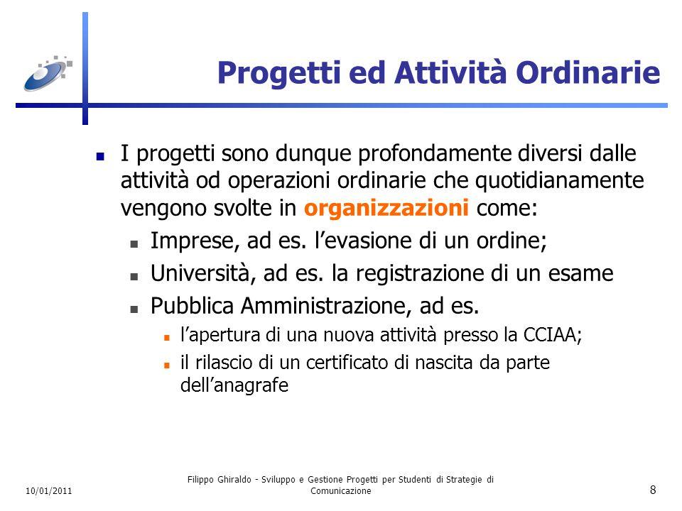 Progetti ed Attività Ordinarie