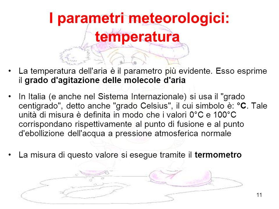 I parametri meteorologici: temperatura