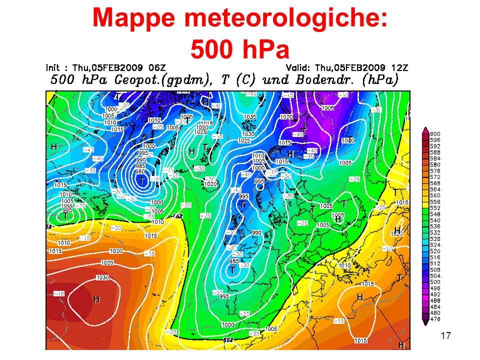 Mappe meteorologiche: 500 hPa