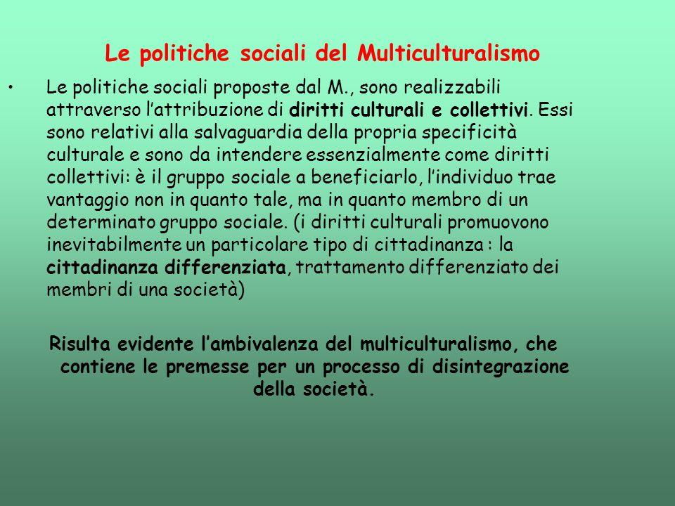 Le politiche sociali del Multiculturalismo